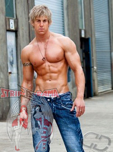 melbourne male stripper jessie topless in jeans
