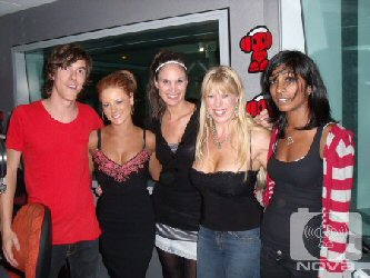 phoebe and rickianne strippers with nova 100 staff