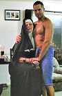 Axle the male stripper with nun.