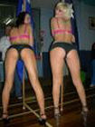 Tahnia and Emily, two hot stripper bums at the boxing.